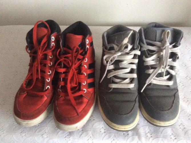 a0df6fa8244 2 Pairs Nike Air Jordan + Adidas Hi-Top and 50 similar items