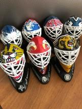 Set of 7 Hockey NHL McDonalds 1996-97 Goalie Mask Hockey Helmet Toys - $31.43
