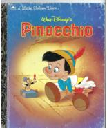 Little Golden Book -  WALT DISNEY'S PINOCCHIO (1990 Edition)  - $2.50