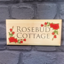 Personalised Red Rose Sign, Garden Roses Nanny Shed House Name Number Al... - $12.02