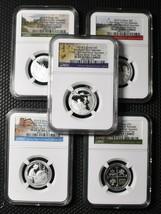 2019S 25¢ Quarter Set First .999 SILVER Proof Set 5 Coins NGC PF69 UC SKU C128