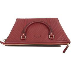 NEW GUCCI Microguccissima Leather Zip Top Crossbody Handbag image 8