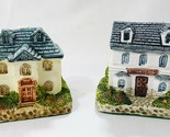vintage Ceramic collectible country cottages miniature figurines bank pharmacy