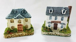 vintage Ceramic collectible country cottages miniature figurines bank ph... - $24.82