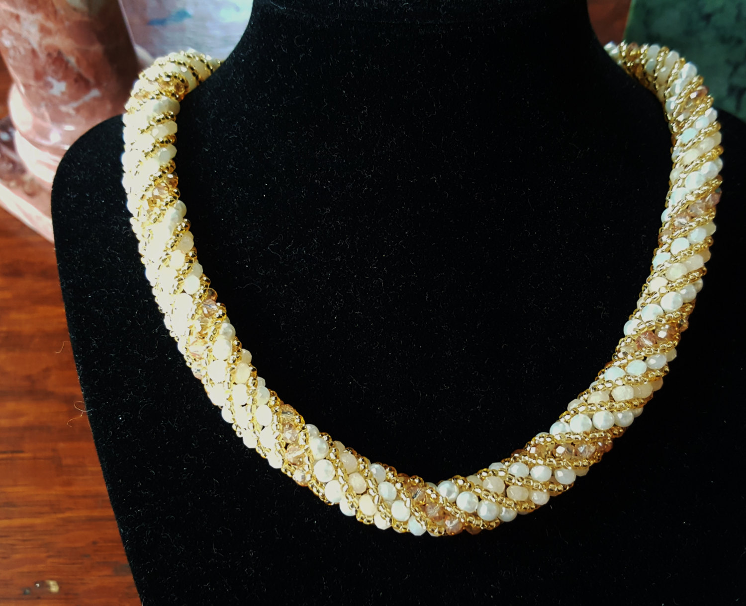 Classy and Elegant Russian Spiral - Free Shipping!! - handmade beaded necklace