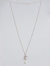 AUTH CHANEL DUBAI CRESCENT MOON STAR PEARL CC PENDANT NECKLACE GOLD  image 2