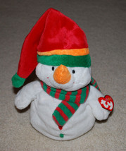 """TY Pluffies Melton Snowman Christmas Holiday Plush 12"""" Retired HTF - $24.70"""