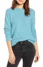 Something Navy Flecked Crew Neck Sweater In Teal Sicily Size XS NWT - $23.71