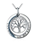 Tree of Life Pendant Necklace - Forever in My Heart - Memorial Jewelry -... - $30.16
