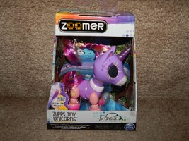 Zooner Zupps Tiny Light-Up Horn Unicorns Figure Crystal 4+ Free Shipping - $15.83