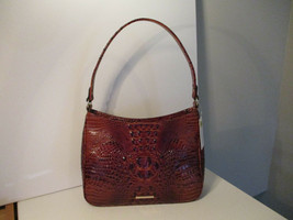 Authentic Brahmin Noelle Pecan Melbourne Shoulder Bag Embossed Leather N... - $158.39
