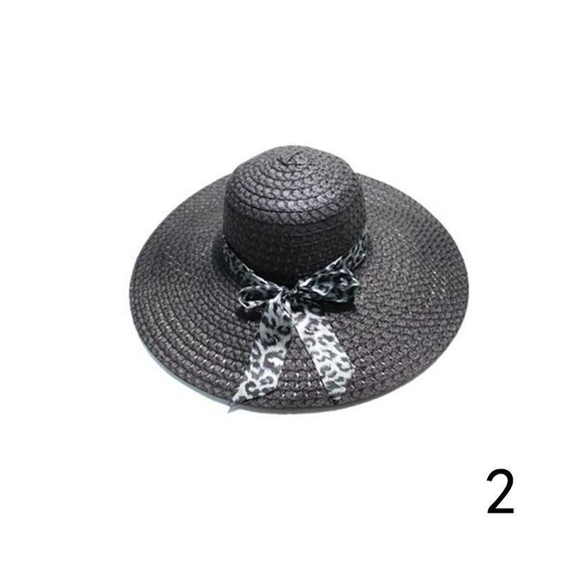 Huation 2019 New Sun Hats for Women Girls Wide Brim Floppy Straw Hat Summer Bohe image 2