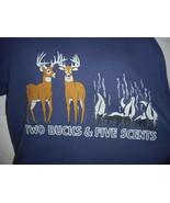 """Vintage 80s Deer Skunk """"2 Bucks & 5 Scents"""" Hunting T-Shirt Large - $14.99"""