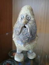 "Pottery Ceramic stoneware FOLK FIGURINE gnome wizard Hillbilly Hobbit 4""... - $7.92"