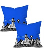 DENY Designs Bird Ave Dallas Royal Throw Pillow, 16-Inch by 16-Inch Set ... - $63.74