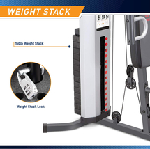 Marcy Pro MWM-988 Gym System 150 lbs Adjustable Weight Stack - Ready to Ship image 6