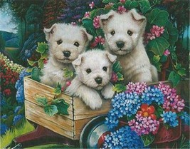 Lovable Westies White Dog Puppies 100 pc Bagged Boxless Jigsaw Puzzle NO... - $9.85