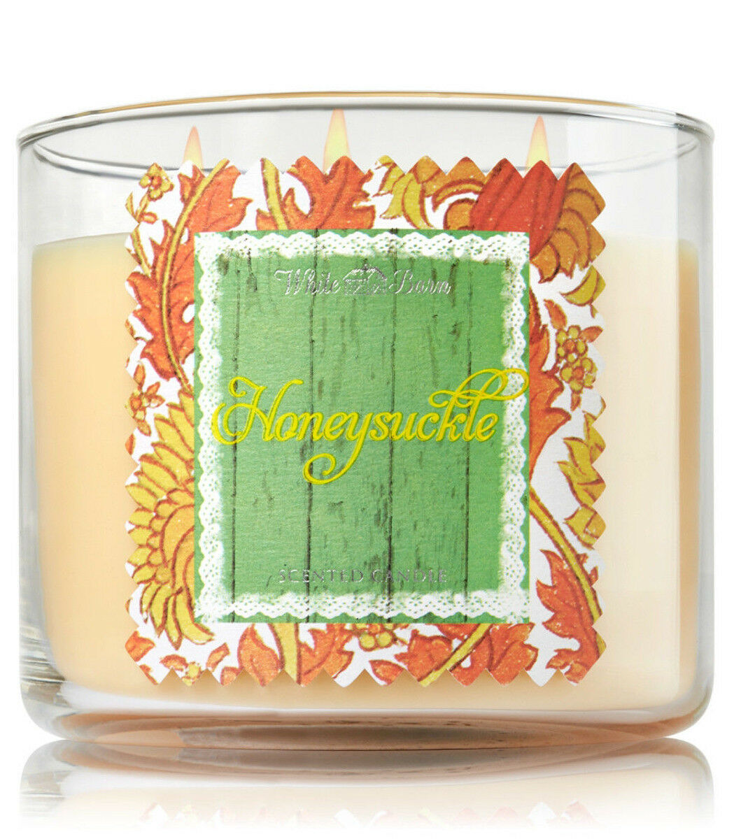 Bath & Body Works Honeysuckle Three Wick 14.5 Ounces Scented Candle