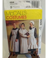 McCall's Pioneer Costumes #9423 Ladies Size 12-14 THEATER COSTUME Re-ena... - $9.90
