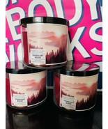 3x New Bath & Body Works Cranberry Woods  3-wick 14.5oz Candles - $69.00