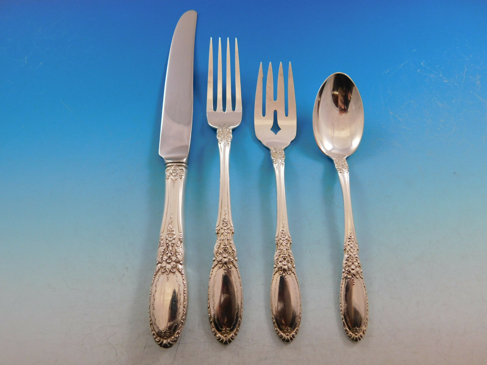 Primary image for Old Mirror by Towle Sterling Silver Flatware Set for 12 Service 48 Pieces