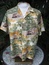 Made in Hawaiian shirt XL 26 pit to pit RJC cotton puddle hopper woodie ... - $19.15