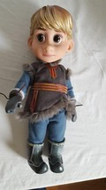"16"" DISNEY FROZEN KRISTOFF VINYL PLASTIC BOY DOLL, REMOVEABLE CLOTHES, M... - $10.59"