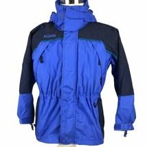 Columbia Talbot Youth Ski Snowboard Jacket Parka 10-12 Blue Navy Hood Shell - $24.65