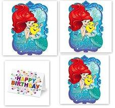Hallm Princess Little Mermaid Ariel Decoration Party Birthday Invitation... - $16.78