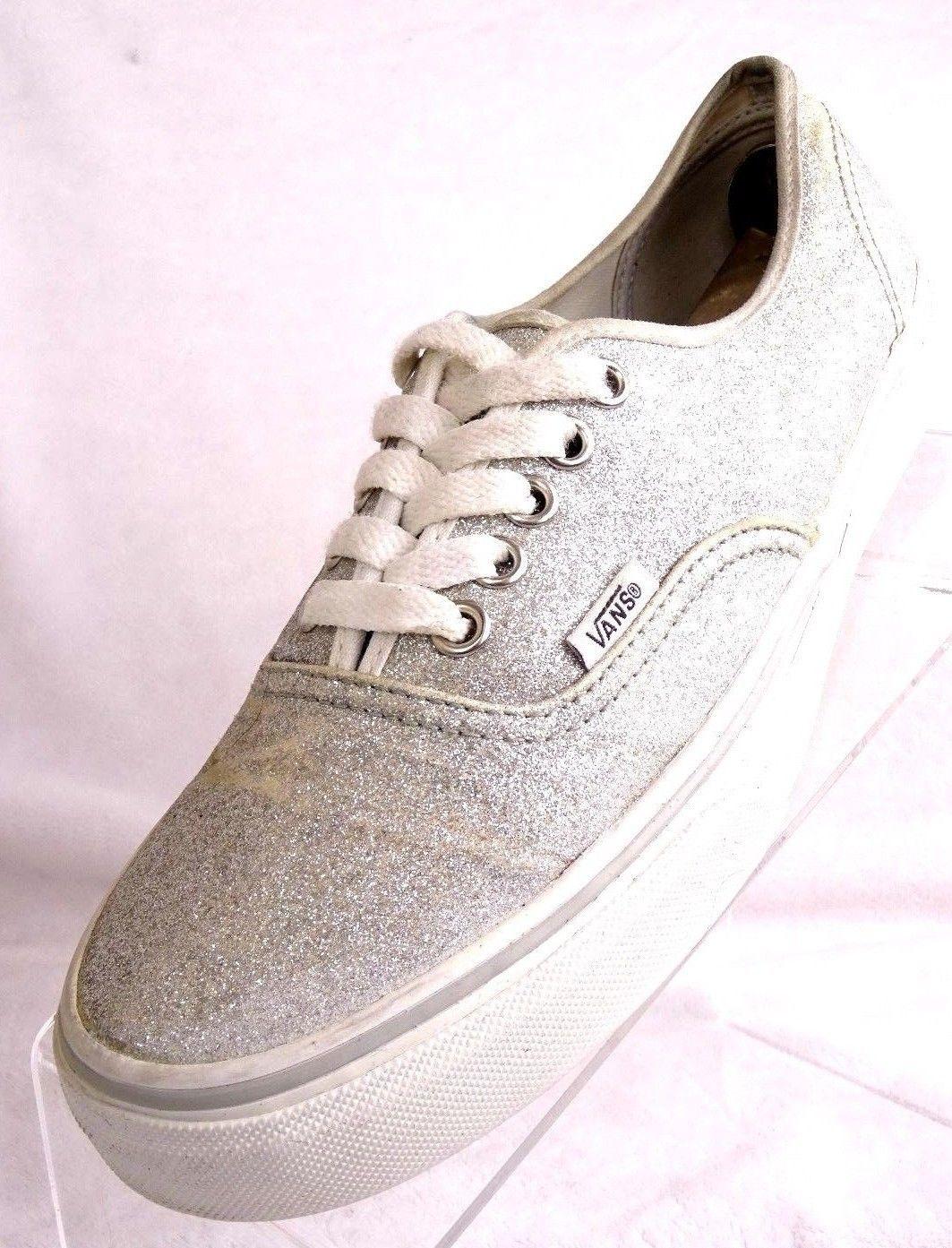 13d9ccf666f9 57. 57. Previous. VANS T375 SilverGlitter Lace Up Sneaker Sizes Men's 6.2M Women's  8 Unisex Shoes