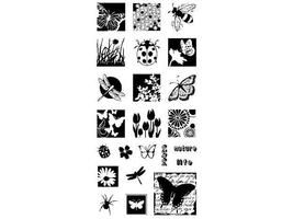Inkadinkado Insect Inchies Clear Stamp Set #60-3049, 23 Pieces - $11.99