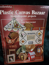 Plastic Canvas Bazaar 16 Needlepoint Projects Booklet Needleworks 1981 - $14.05