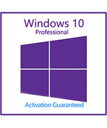 Windows 10 Pro Professional Key With Download 32/64 Bit - $5.70