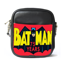 Sling Bag Leather Shoulder Bag Batman Logo In Cute Funny Design Justice ... - $14.00