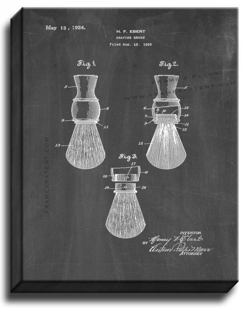Primary image for Shaving Brush Patent Print Chalkboard on Canvas