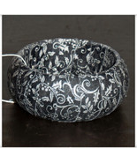 Black and Silver Metallic Bangle, Holly Filigree Fabric Bangle, Fabric W... - $11.99