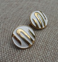 Vintage Clip On Earrings Signed Trifari Gold Plated Near Mint Vintage Co... - $25.00