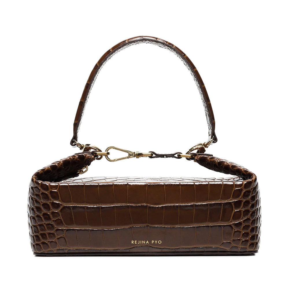 Rejina pyo olivia brown clutch bag 1