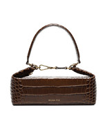 Women Rejina Pyo Olivia Crocodile Embossed Leather Box Clutch Bag - $288.00