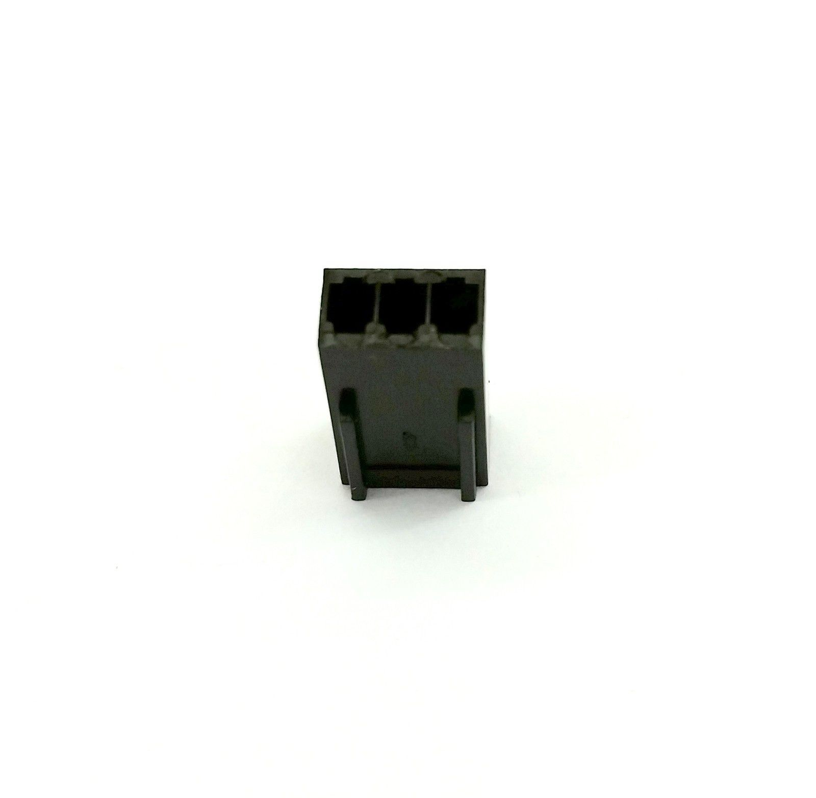 PK OF 2 - FEMALE 3 PIN FAN POWER CONNECTOR - BLACK INC PINS