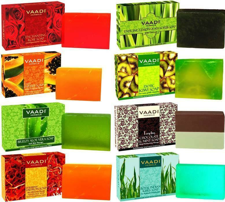 Vaadi Herbals Body Soap Choose from 17 Variants 75 Gm Each Skin Care