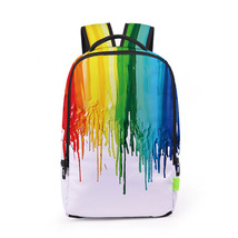 Creative personality 3d colorful paint digital print school travel backpack - $494,58 MXN