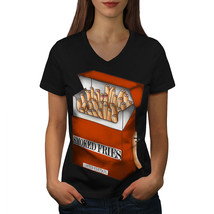 Smoked Fries Pack Shirt Funny Women V-Neck T-shirt - $12.99+
