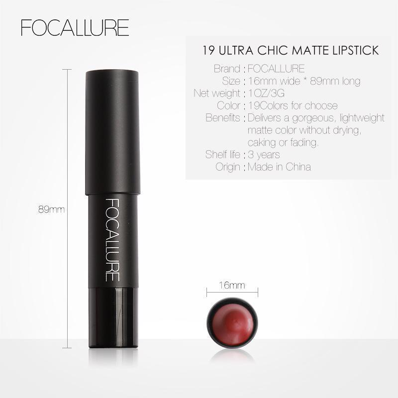 Matte Lipsticks Waterproof Lip Sticks Long Lasting Pencil Cosmetic Lips Makeup image 5