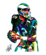 "Randall Cunningham, Philadelphia Eagles, Quarterback, Sports 18""x24"" Art... - $19.99"