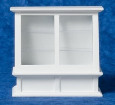 DOLLHOUSE MINIATURES WHITE STORE DISPLAY CASE #T6087 - $21.77