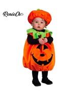 Kids Baby Infant Pumpkin Costume tunic hat set toddler Cosplay Halloween  - $19.99