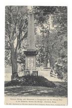 Concord MA Old North Bridge Monument Minute Men Vintage UDB Postcard Lit... - $4.99