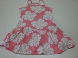 K5075 Girls GYMBOREE Pink Flower Print SUN DRESS 2015 Drop Waist sz 6 - $19.29