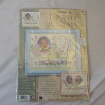 Dimensions #6948 Frame-A-Name Gift from God Birth Record CCS Kit NIP - $14.99